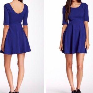 LUSH Fit & Flare Blue Dress Size XS